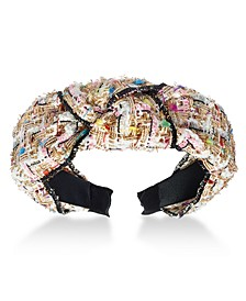INC Tweed Knotted Headband, Created for Macy's