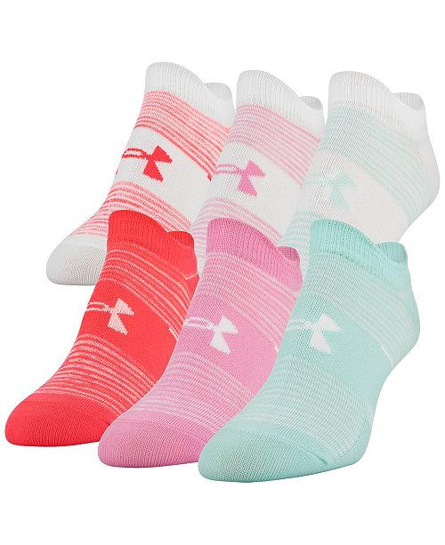 Under Armour Women's 6-Pk. Essential No-Show Socks
