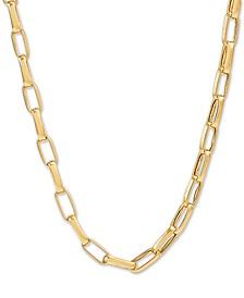 """Paperclip Link 19"""" Chain Necklace in 18k Gold-Plated Sterling Silver"""