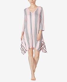 3/4 Sleeve Sleepshirt Nightgown