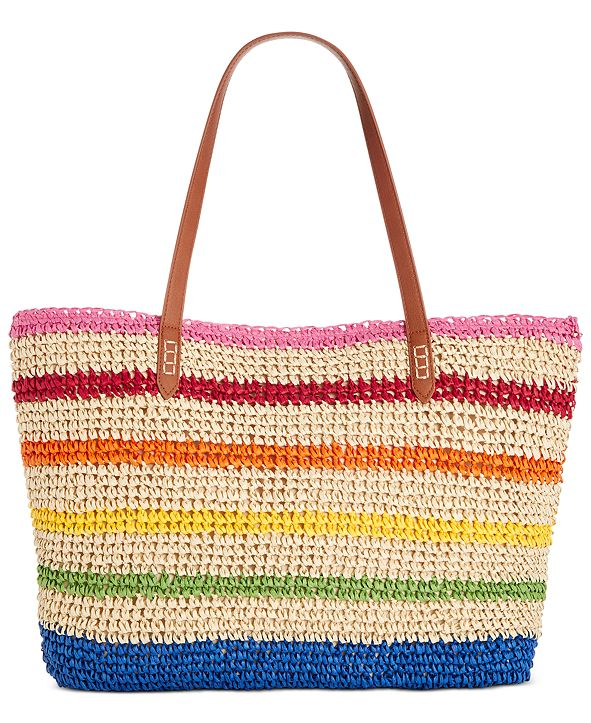 INC International Concepts INC Tropical Straw Tote, Created for Macy's