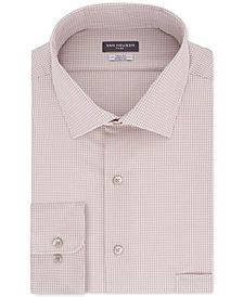 Van Heusen Men's Big&Tall Classic/Regular Fit Non-Iron Flex Collar Stretch Washed Sand Check Dress Shirt