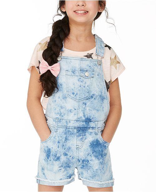 Epic Threads Big Girls Indigo Shortalls, Created for Macy's