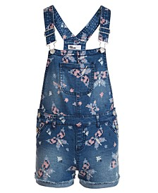 Big Girls Butterfly-Print Shortalls, Created for Macy's