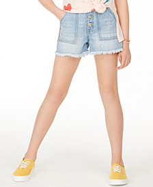 Big Girls Button-Fly Cotton Denim Shorts, Created for Macy's