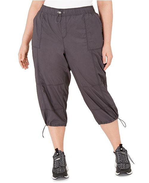 Calvin Klein Plus Size Cotton Woven Active Pants