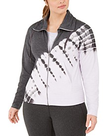Plus Size Printed Zip-Front Jacket, Created for Macy's