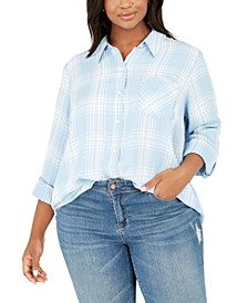Plus Size Plaid Shirt, Created for Macy's