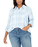 Style & Co Plus Size Plaid Shirt Created for Macys