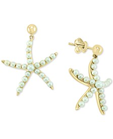 EFFY® Cultured Freshwater Pearl (2 & 3mm) Starfish Drop Earrings in 14k Gold