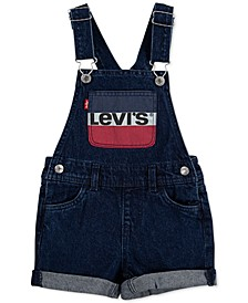 Toddler Girls Cotton Denim Shortalls