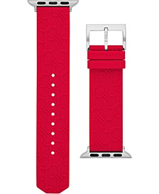 Women's Double-T Link Red Band For Apple Watch® Silicone Strap 38mm/40mm