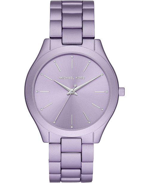 Michael Kors Women's Runway Lilac Aluminum Bracelet Watch 42mm