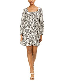 Square-Neck Printed Dress, Created For Macy's