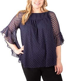 Plus Size Textured Top