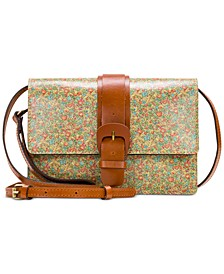 Leather Buckle Lanza Crossbody