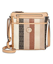 Patchwork Stripe Crossbody, Created for Macy's