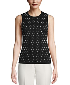 Dot-Print Sleeveless Top