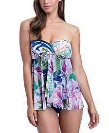 Club Tropicana Printed Flyaway Tummy Control One-Piece Swimsuit
