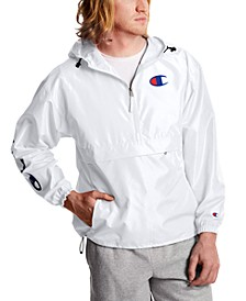 Men's Half-Zip Packable Windbreaker