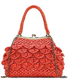 Laureana Scalloped Raffia Satchel