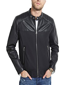 Men's Faux Leather Moto Jacket