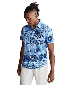 Men's Big & Tall Hawaiian Oxford Shirt