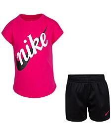Little Girls 2-Pc. Futura Logo T-Shirt & Shorts Set