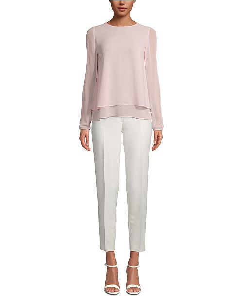 Anne Klein Double-Layer Blouse