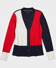 Women's Sandra Colorblocked Cardigan with Magnetic Closures