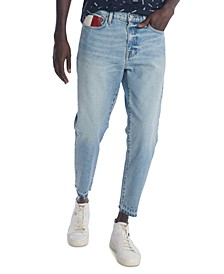 Men's Athletic Tapered-Fit Cropped Stretch Jeans