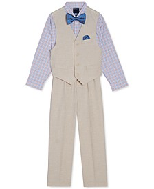 Little Boys 4-Pc. Textured Vest Set