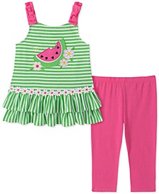 Toddler Girls 2-Pc. Watermelon Tunic & Leggings Set