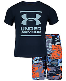 Under Armour Toddler & Little Boys 2-Pc. Striker Volley Rash Guard & Swim Trunks Set