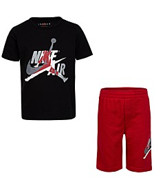 Little Boys 2-Pc. Jumpman Classics T-Shirt & Shorts Set