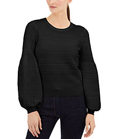 INC Solid Pointelle Ottoman Sweater, Created for Macy's