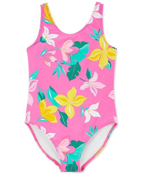 Carter's Little & Big Girls 1-Pc. Floral Bow-Back Swimsuit