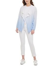 Cotton Dip-Dyed Cardigan