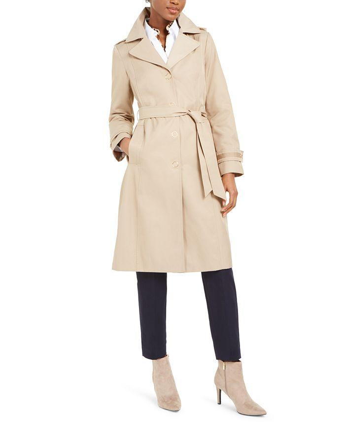 Anne Klein - Hooded Raincoat