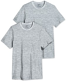 Men's Big and Tall Classic Crew Neck Undershirts, Pack of 2