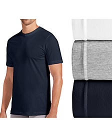 men's tagless slim-fit 3-pack crewneck Undershirt