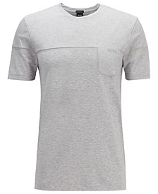 BOSS Men's Thilix Slim-Fit Mixed-Material T-Shirt