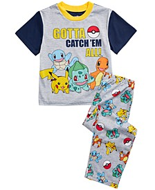 Little & Big Boys 2-Pc. Pokémon Pajamas