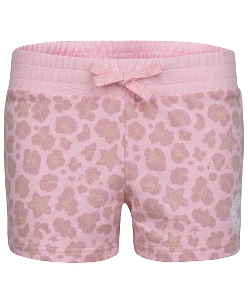 Converse Big Girls French Terry Leopard Shorts