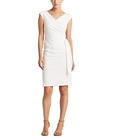 Petite Jersey Cap-Sleeve Dress