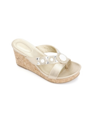 Kenneth Cole Reaction Card Glam Wedge Sandals Women's Shoes