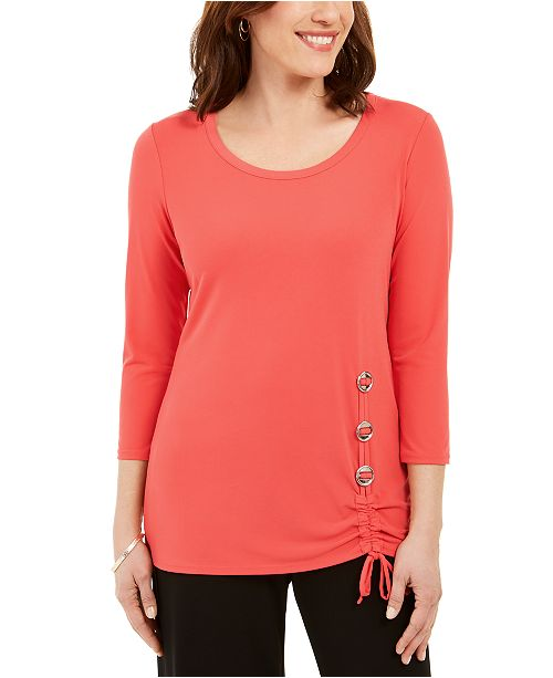 JM Collection Hardware-Trim Tunic, Created for Macy's