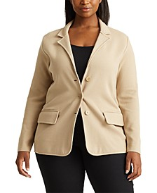 Plus-Size Tubular-Trim Blazer
