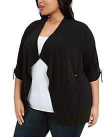 Plus Size Drawstring-Waist Top