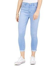 Juniors' Curvy Cuffed High-Rise Cropped Skinny Jeans